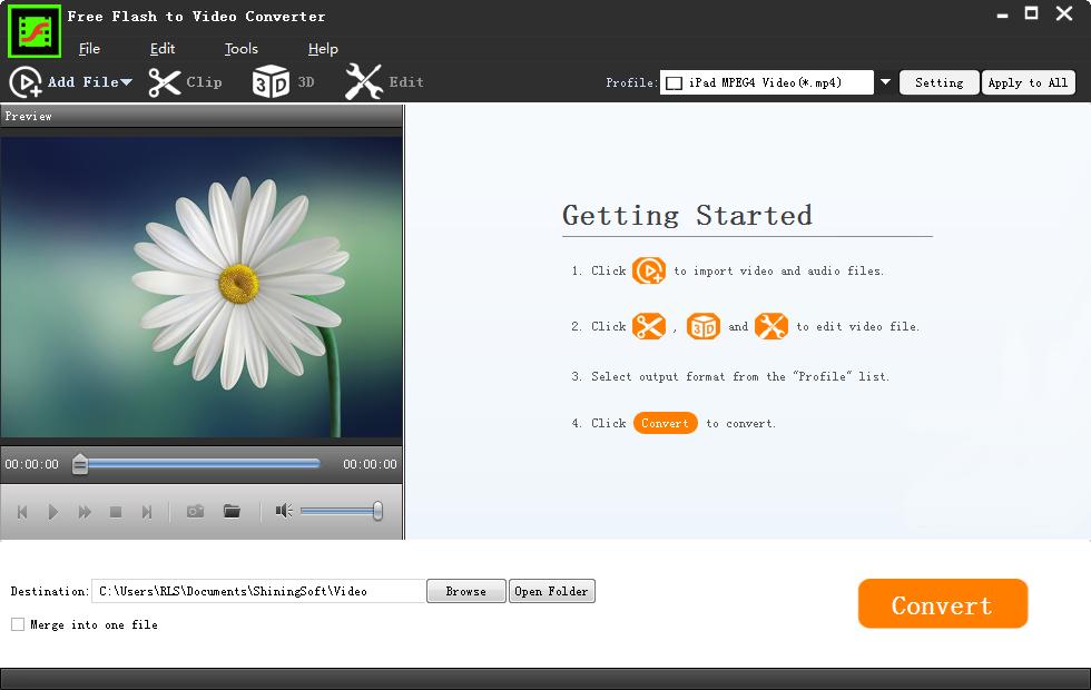 Free Flash to Video Converter full screenshot