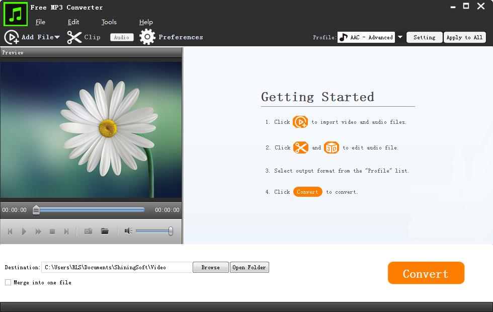 Free MP3 Converter full screenshot